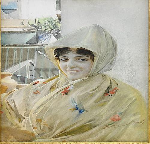 ANDERS ZORN 1860-1920 Spansk flicka i Sevilla