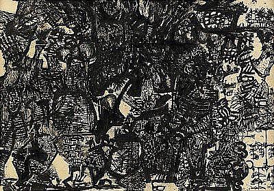 ÖYVIND FAHLSTRÖM 1928-1976 Komposition Signerad