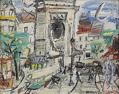 PAUL GEN Frankrike 1895-1975 La Porte Saint-Denis