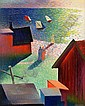 WALDEMAR LORENTZON 1899-1984 brittsommar signerad, Waldemar Lorentzon, Click for value