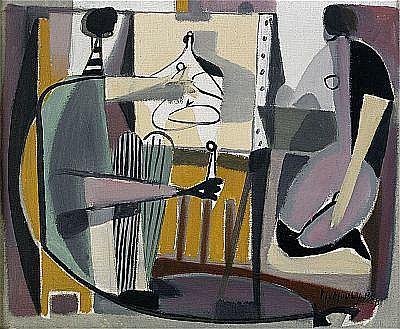 D - MARCEL MOULY Frankrike 1918-2008 Le peintre et