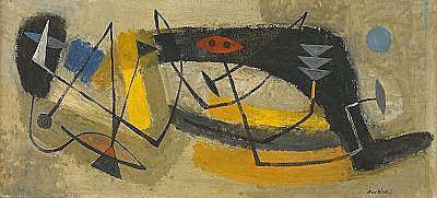 NILS WEDEL 1897-1967 Abstrakt II Signerad Nils