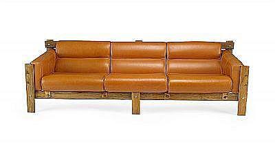PERCIVAL LAFER, soffa och två fåtöljer, Lafer