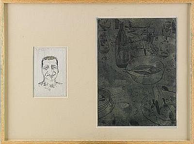 CURRO GONZALEZ Spanien, född 1960 Självporträtt
