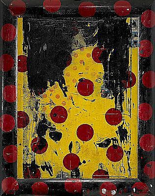 FORD BECKMAN USA, född 1952 Yellow clown with red
