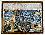 CARL WILHELMSON 1866-1928 Fiskare Signerad C.