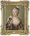 GUSTAF LUNDBERG 1695-1786 Porträtt av friherrinnan