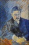 IVAN AGUÉLI 1869-1917 Porträtt av man i blå kostym