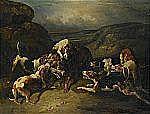 KARL FREDRIK KIÖRBOE 1799-1876 Jakthundar och varg