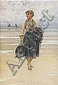 AUGUST HAGBORG 1852-1921 Ostronplockerska Signerad, August Hagborg, Click for value
