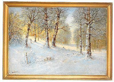 Karl Ioganovich Rosen 1864-1934 Winter Forest
