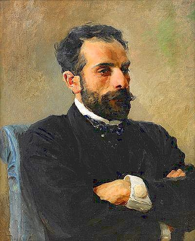 Vasily Dmitrievich Polenov 1844-1927 Portrait of