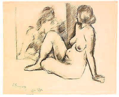 Alexander Alexandrovich Osmerkin 1892-1953 Study