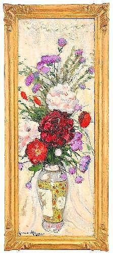 Alexander Altmann 1885-1950 Flowers in an Imari