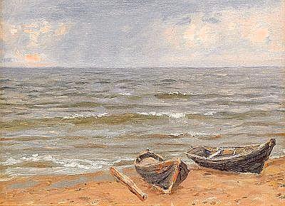 Nikolai Nikanorovich Dubovskoy 1859-1918 Boats by