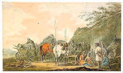 Alexander Osipovich Orlovsky 1777-1832 Cossacks