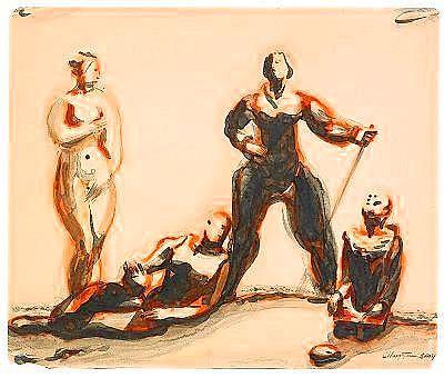 Solomon Benediktovich Nikritin 1898-1965 Study for