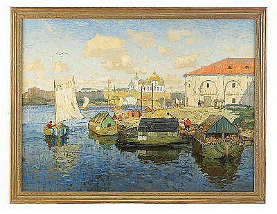 Konstantin Ivanovich Gorbatov 1876-1945 Volga Town