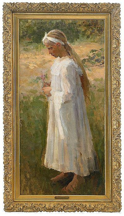Mikhail Vasilievich Nesterov 1862-1942 Girl in a