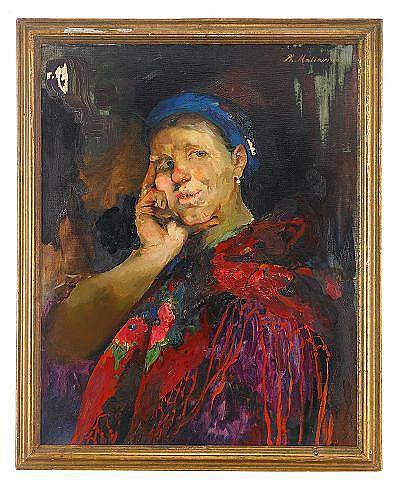 Philip Andreievich Maliavin 1869-1940 Portrait of