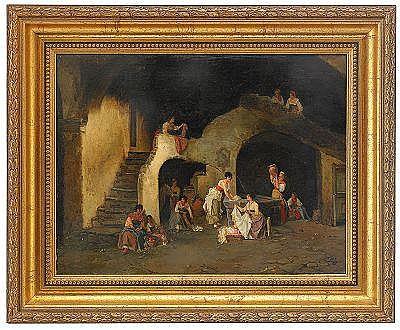 Alexander Antonovich Rizzoni 1836-1902 Scene in a