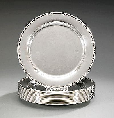 GEORG JENSEN, 12 plates, Georg Jensen Copenhagen