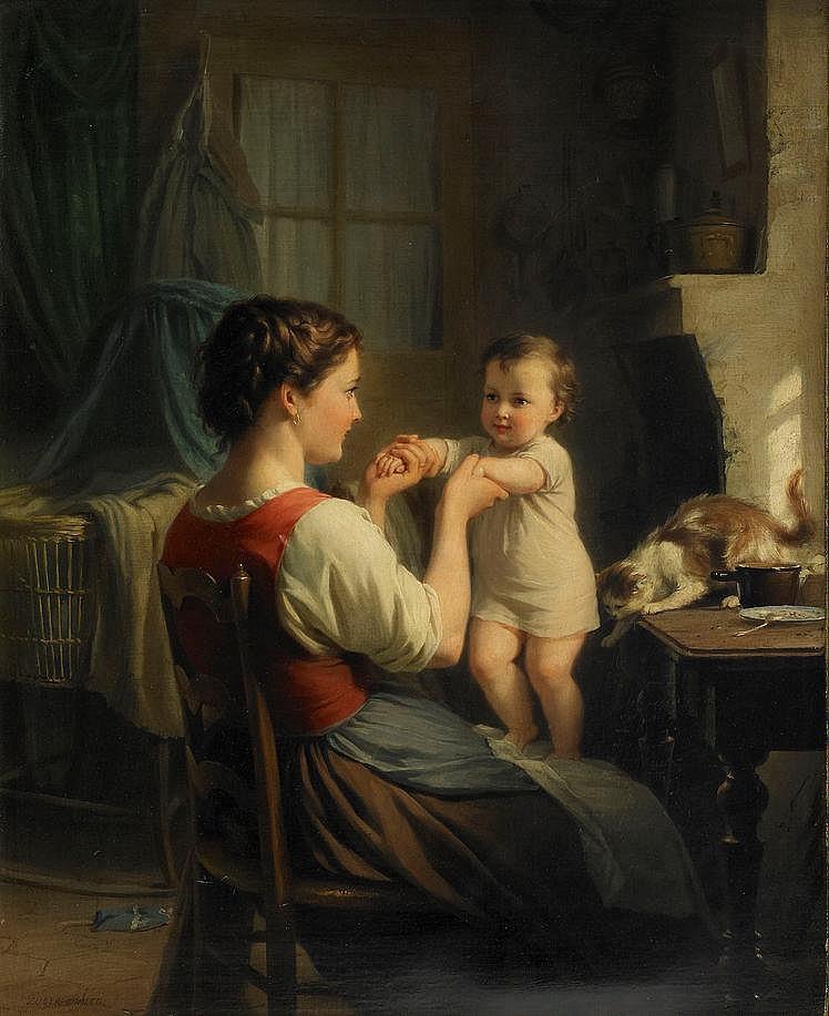 FRITZ ZUBER-BÜHLER, France 1822-1896, Mor och