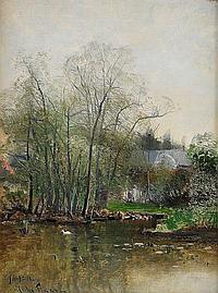 JOHN KINDBORG, 1861-1907, Utsikt mot Sickla