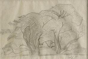 IVAN AGUÉLI, 1869-1917, Landskap med träddunge