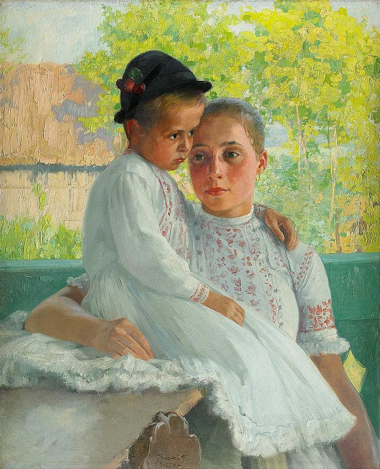 FERENC PACZKA, Ungern 1856-1925, Mor och barn