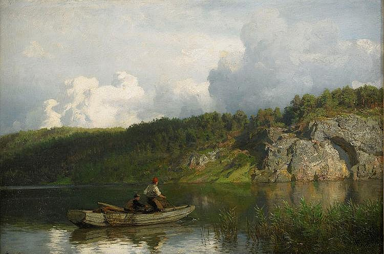 HANS GUDE, Norge 1825-1903, Analkande oväder