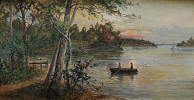 ANNA GARDELL-ERICSON, 1853-1925, Insjölandskap