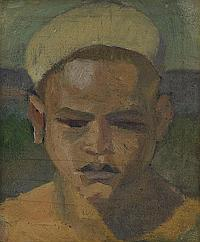 IVAN AGUÉLI, 1869-1917, Ung egyptier, Olja på