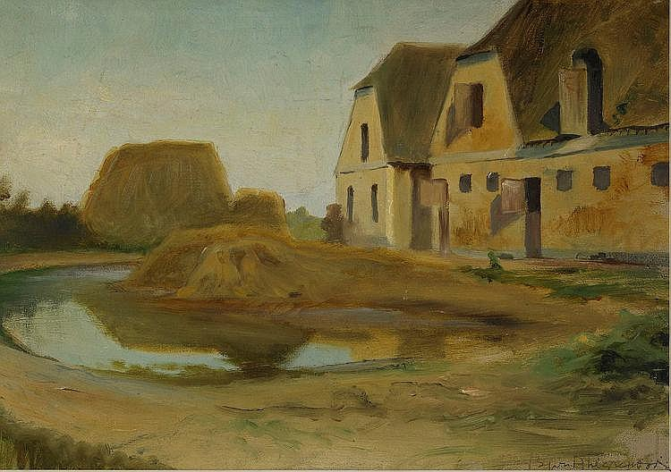 BJÖRN AHLGRENSSON, 1872-1918, Fransk gårdsmiljö