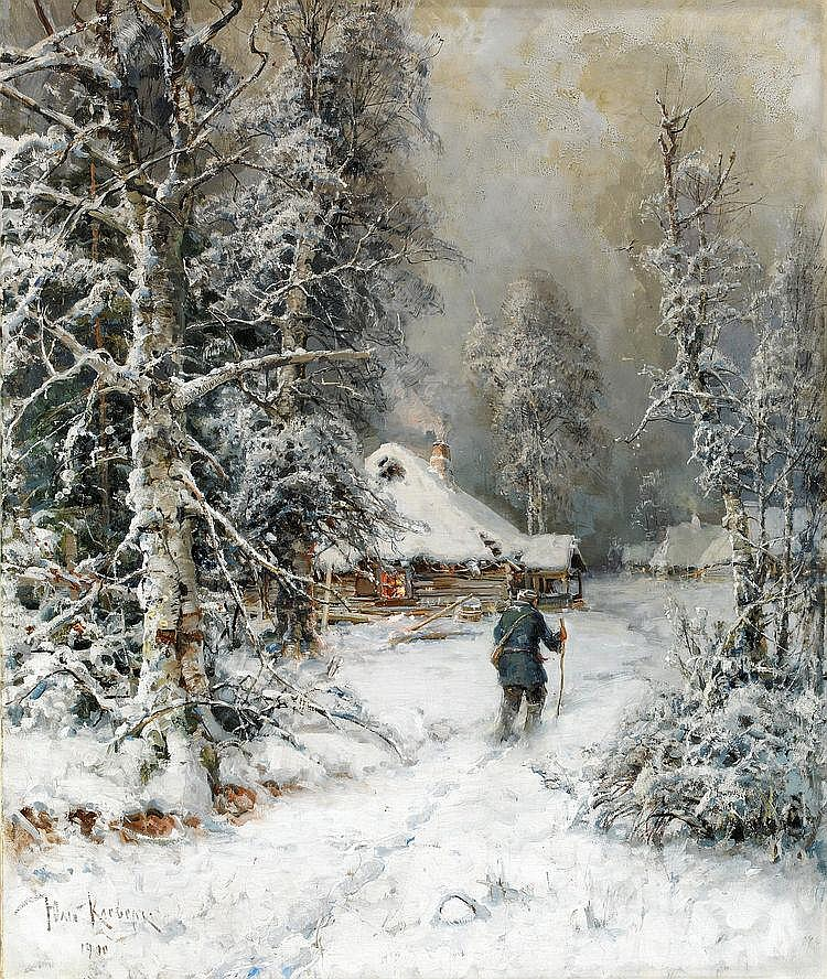 YULIY YULEVICH KLEVER, 1850-1924, Winter