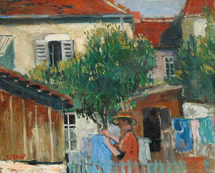François Gall, Flicka i trädgård FRANÇOIS GALL