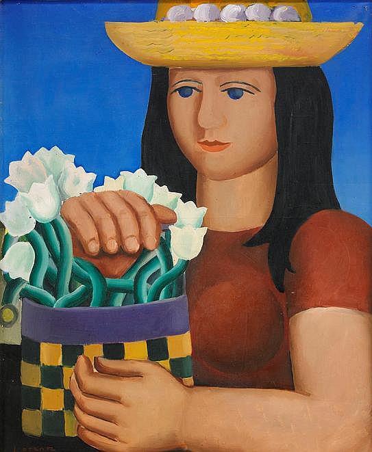 Waldemar Lorentzon, La fille au pot de fleurs
