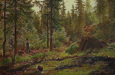 kåt norrländsk kvinna i etseri