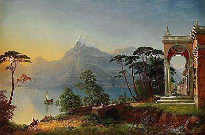WILIAM HENRY PYNE England 1769-1843 Vy från