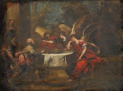 VALERIO CASTELLO Italien 1624-1659 Abraham som
