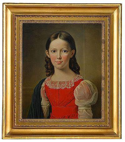 AXEL JOHAN FÄGERPLAN 1788-1865 Porträtt av fröken