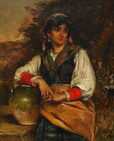THOMAS KENT PELHAM England c. 1860-1891 Flicka med