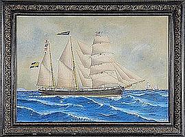SJÖSTRÖM, Lars Petter (1820-96), fartygsporträtt