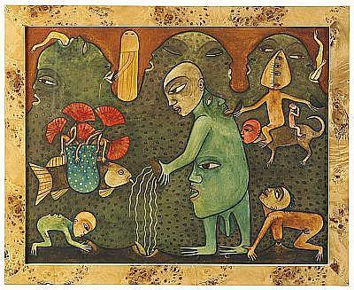 MANUEL MENDIVE Cuba born 1944 Mythe de la création