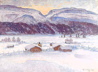ANTON GENBERG 1862-1939 Hovde fäbodar, Bydalen