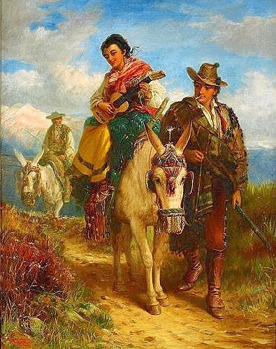 ROBERT KEMM England 1837-1895 Resande sällskap