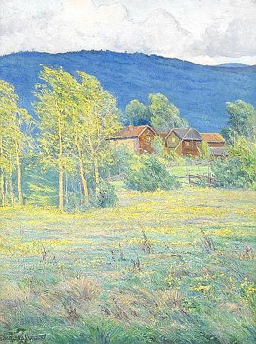 CHARLOTTE WAHLSTRÖM 1849-1924 Norrländsk sommar