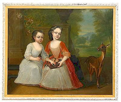 MICHAEL DAHL 1659-1743, tillskriven Flickor i