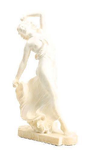 ERNST SEGER Tyskland 1868-1939 Dansande flicka med