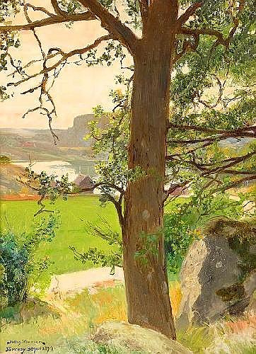 JULIUS KRONBERG  1850-1921 Sommarlandskap
